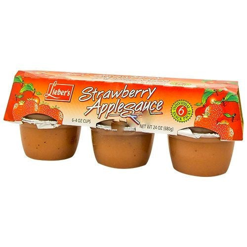 Liebers Strawberry Apple Sauce 6 Pack 680G