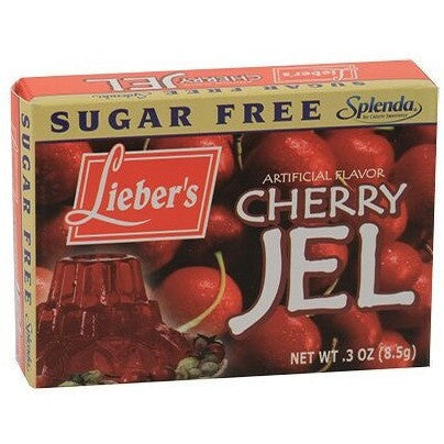 Liebers Jelly Sugar Free Cherry 8.5G