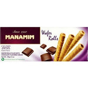 Manamim Wafer Rolls Chocolate 100G