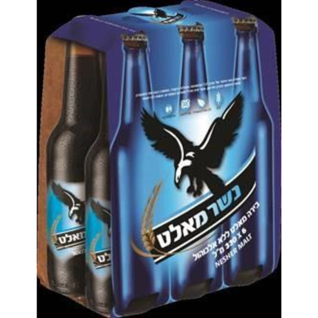 Nesher Malt Beer Non Alcholic Beverage 6 x 330 ML