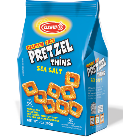 Osem Pretzel Thins Sea Salt Klp 200G