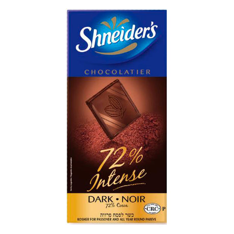 Shneiders Dark Chocolate Intense 72% 100G