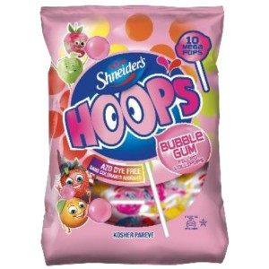 Shneiders Hoop Bubble Gum Lollypops