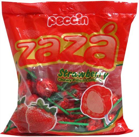 Zaza Strawberry Chewy Lollipop 395G