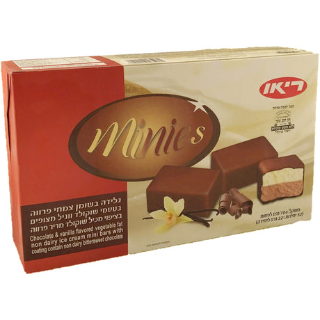 Rio Minies Chocolate Vanilla Ice Cream Bars 32 Pack 704G