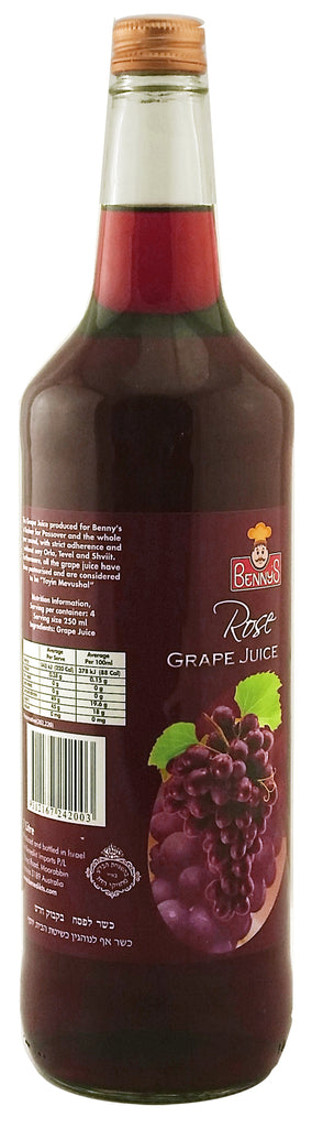 Benny's Grape Juice Rose 1Ltr