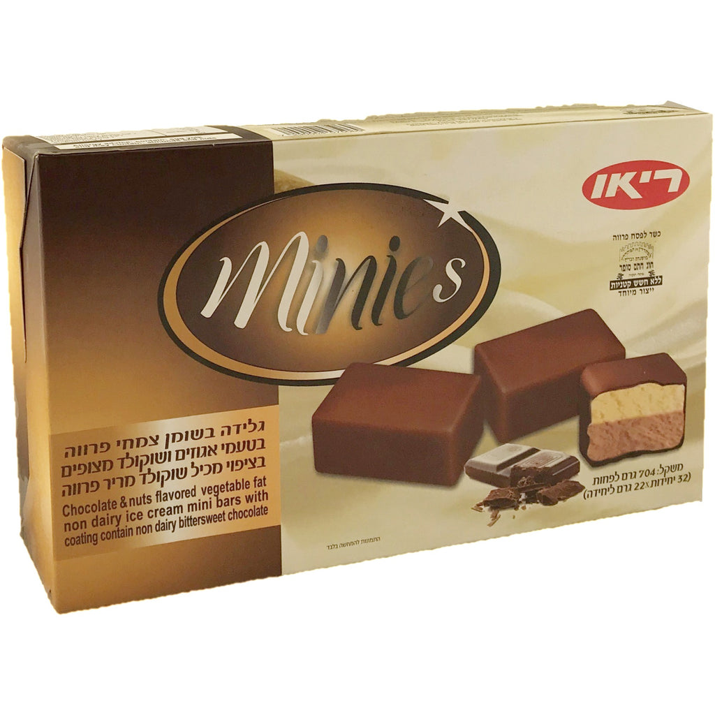 Rio Minies Chocolate Hazelnut Ice Cream Bars 32 Pack 704G