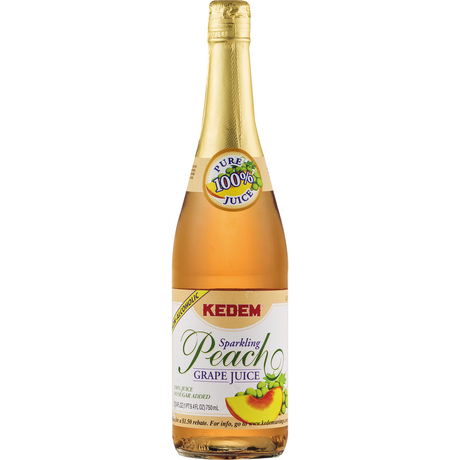 Kedem Sparkling Peach Grape Juice 750Ml