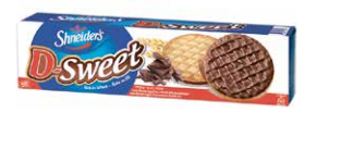 Shneiders D-Sweet Dark Choc Cookies