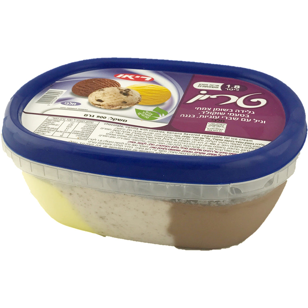 Rio 3 Flavours Dairy Ice Cream Chocolate, Vanilla With Biscuit Pieces, Banana 1.8L