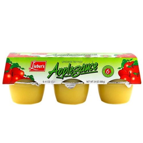 Liebers Apple Sauce Unsweetened 6 Pack 680G