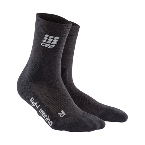 Mens CEP Outdoor Light Merino Compession Mid-Cut Sock