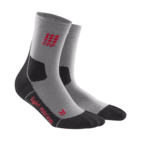 Mens CEP Outdoor Light Marino Mid-Cut Sock