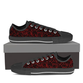 Red Roses Women's Low Tops