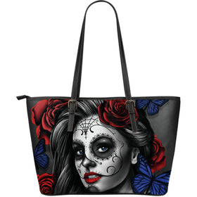 Tattoo Calavera Girl Large Tote - Phoenix Lifewear