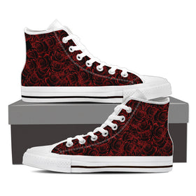Red Roses Women's High Tops - Phoenix Lifewear
