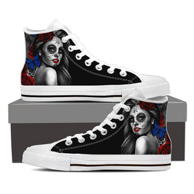 Calavera Women's High Top Shoes - Phoenix Lifewear