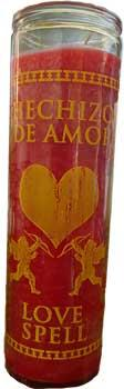 Love Spell Red 7 Day Jar Candle