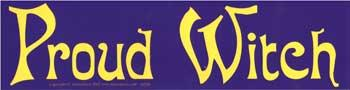 Proud Witch Bumper Sticker