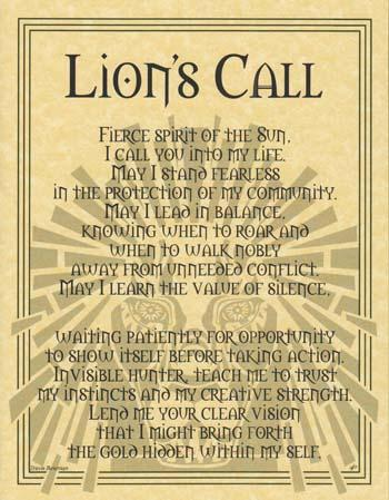 Lion Prayer Poster