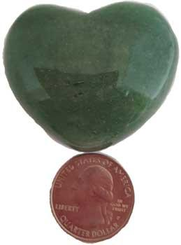 "1 3-4"" Aventurine, Green Heart"