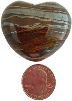 "1 3-4"" Tiger Eye Heart"