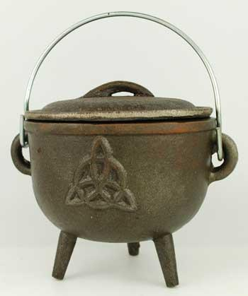Triquetra Cast Iron Cauldron 4 1-2""