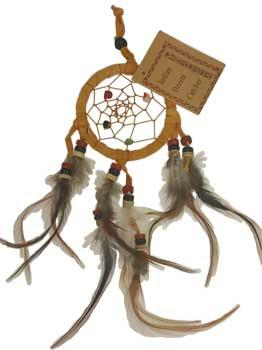 "2 1-2"" Brown Dream Catcher"