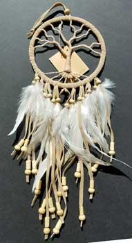 "4 1-2"" Tree Of Life Tan Dream Catcher"