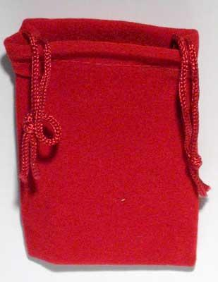 Red Velveteen Bag