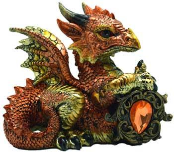 Orange Dragon W- Stone 4""