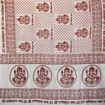"Ganesh 44""x 87"" White Prayer Shawl"