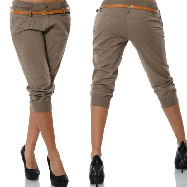 Chic Boutique Clothing Pants Solid Color Skinny Calf Length Pants