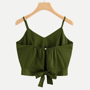 Chic Boutique Clothing top Casual Tie Back V Neck Camisole Top
