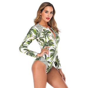 Chic Boutique Clothing Swimwear One Piece Long Sleeve Swimsuit