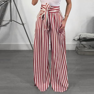 Chic Boutique Clothing Pants C / S / China Striped High Waist Harem Pants 27691447-c-s-china