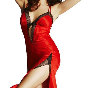 Chic Boutique Clothing lingerie Red / One Size / China Lace Robe Dress Babydoll Nightdress 10069326-red-one-size-china