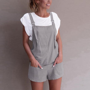 Chic Boutique Clothing Jumpsuits & Rompers Gray / S / China Casual Pockets Jumpsuits 20051644-gray-s-china