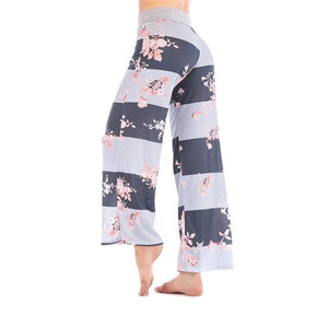Chic Boutique Clothing Pants Floral Print Women Loose Pants