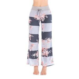 Chic Boutique Clothing Pants Dark Gray / S / United States Floral Print Women Loose Pants 20637800-dark-gray-s-united-states
