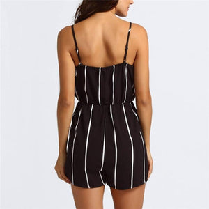 Chic Boutique Clothing Jumpsuits & Rompers V Neck Striped Jumpsuit