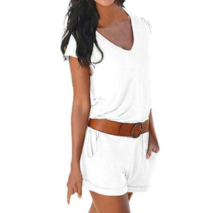 Chic Boutique Clothing Jumpsuits & Rompers White / S / China Holiday Strap Mini Playsuit 25646883-white-s-china