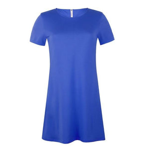 Chic Boutique Clothing Dresses Blue / XXL / China Women Loose Casual Dress 26150700-blue-xxl-china
