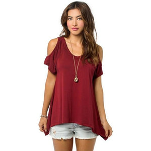 Chic Boutique Clothing R / XXL / United States Off Shoulder Loose Tee Top 26400912-r-xxl-united-states