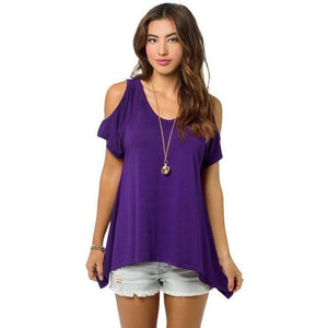 Chic Boutique Clothing Z / XXL / United States Off Shoulder Loose Tee Top 26400912-z-xxl-united-states