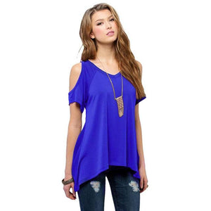 Chic Boutique Clothing DL / XXL / United States Off Shoulder Loose Tee Top 26400912-dl-xxl-united-states