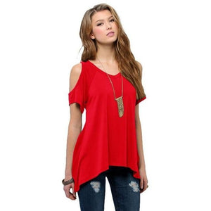 Chic Boutique Clothing DR / XXL / United States Off Shoulder Loose Tee Top 26400912-dr-xxl-united-states