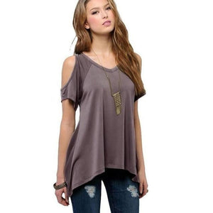 Chic Boutique Clothing C / XXL / United States Off Shoulder Loose Tee Top 26400912-c-xxl-united-states