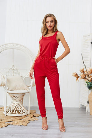 Chic Boutique Clothing Jumpsuits & Rompers Super Comfy Sleeveless Jumpsuit