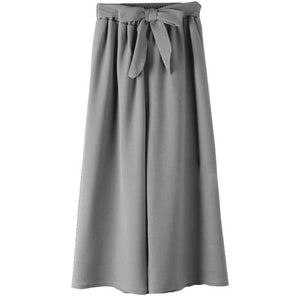 Chic Boutique Clothing Pants Gray / One Size / United States Casual Loose Wide Leg Pants 26841559-gray-one-size-united-states